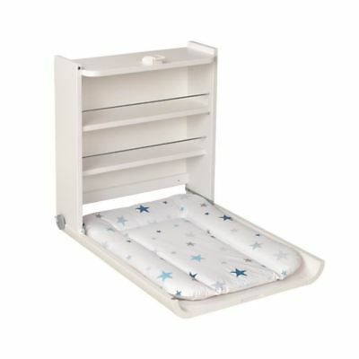 GEUTHER Table a Langer Murale Wanda Blanche Matelas Theme Etoiles Bleues