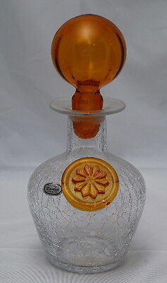 Rainbow Crackle Glass Decanter - Sold by Author of Crackle Glass