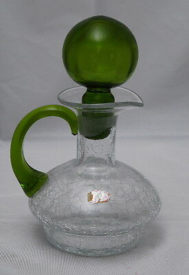 """Rainbow Crackle Glass Decanter - sold by Author of """"Crackle Glass"""""""