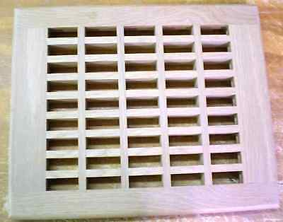 """White Oak Wood Cold Air Return Register Vent Cover For a 12"""" L x 10"""" W  Opening"""