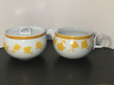 Block - Hearthstone - Vista Alegre - Ginger - Creamer & Sugar Bowl w/ Lid Yellow