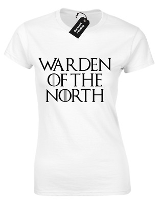 5XL WARDEN OF THE NORTH MENS T SHIRT GAME OF JON SNOW STARK THRONES KING WALL S