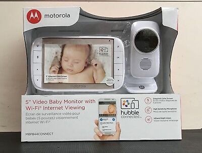"NIB Motorola 5"" Video Baby Monitor w/ Wi-Fi Internet Viewing"