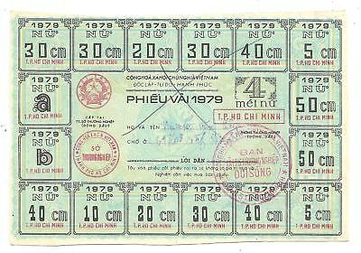 1979 Vietnamese Ration Coupons For Cloth (M/p 3519)
