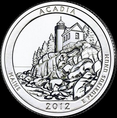 "2012 D Acadia National Park Quarter Maine ""Brilliant Uncirculated"" ATB"