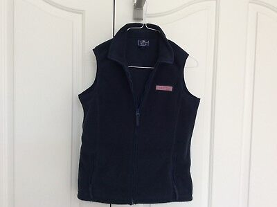 Youth Boys Vineyard Vines Navy Fleece Vest size 12-14 (M)