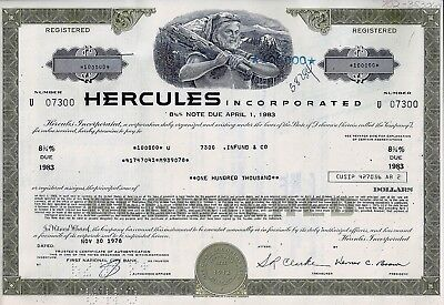 Hercules Incorporated 1978, 8 3/4% Note due 1983 - (100.000 $)