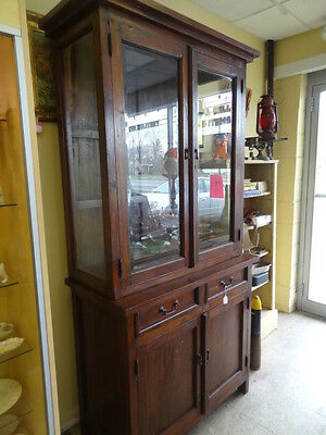 Antique Turn Of The Century Oak Cabinet