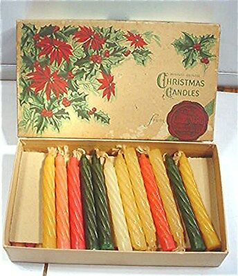Box Of Vintage Christmas Candles- Candle Shops Of Standard Oil Co.(Indiana)