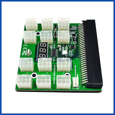 Mining Breakout Board 12 PCI-E  for HP 1200W DPS-1200/DPS750 Server PSU