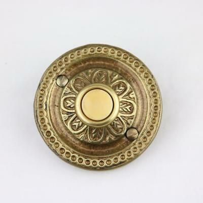 VTG Nutone Mid Century Lighted Cordoba Solid Brass Doorbell Button Chime PB-24L