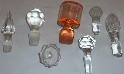 Vintage Fancy Smaller Size Glass Decanter or Bottle Stoppers