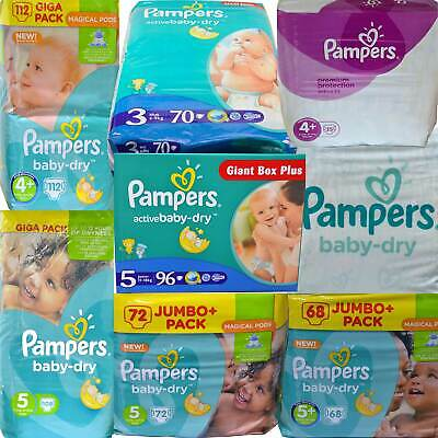 PAMPERS Baby-Dry Couche-culotte tailles 3 - 5 Mega choix