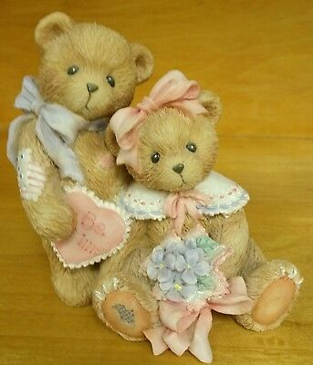 """Cherished Teddies Oliver and Olivia """"Will You Be Mine"""" Hillman Valentine's Heart"""