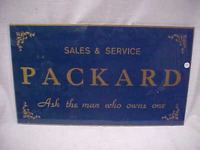 Packard Sales and Service Sign Lot 5018