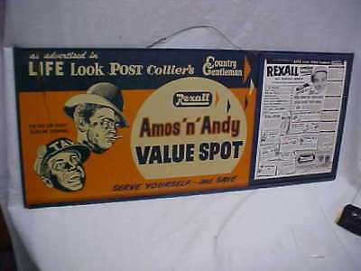 Amos 'N' Andy Double Sided Advertising Sign Lot 5046