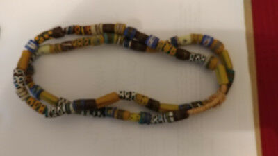 """36""""+ strand of 66 antique glass Venetian-made African heirloom trade beads"""