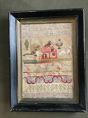 Antique Framed Sampler Dated 1888