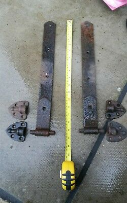 vintage barn door hinges with mounts  pintales