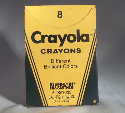 Box - Vintage Crayons - Crayola - New, Never Used - Box Of 8
