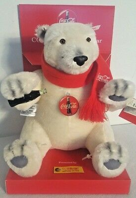 Steiff Knopf Im Ohr 1999 Coca Cola Polar Bear Collectible Retired *new In Box*