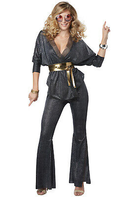 Brand New 70's Disco Dazzler Retro Women Adult Costume