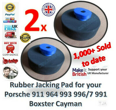 2x Porsche Jacking Pad Jack Pad Hard Rubber 911 964 993 996/7 991 Boxster Cayman
