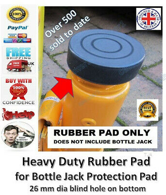 Heavy Duty Rubber Pad for Bottle Jack Protection Pad 26 mm dia recess on bottom