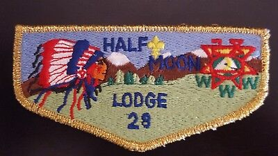 Half Moon Lodge 28 Flap S13 Rip Van Winkle Council BSA