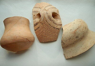 Ancient pottery shards (cup 115mm). Trypillian culture. Ukrainian artifacts.