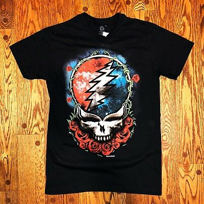 Grateful Dead Steal Your Face Rose Space Jerry Garcia Bob Weir T-shirt Small