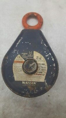 """Mckissick Hf-4 4.5 Rb 1/2"""" Wire Rope Closed Loop Snatchblock"""