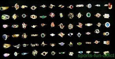 Gleaming Lot of 72 pc Multi Design Multi Stone new old stock Women's BOLD Rings