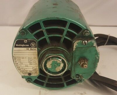 Westinghouse 1/3 HP Electric Motor  1725 RPM, 115 V, 6.4A, Made in USA GOOD!