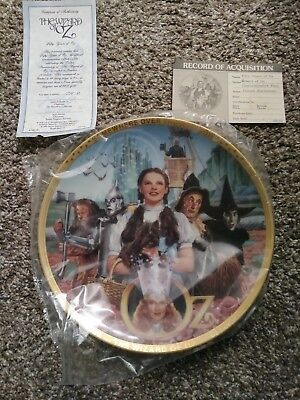 The Wizard of Oz Fifty Years of Oz 50th Anniversary Porcelain Plate W/ COA