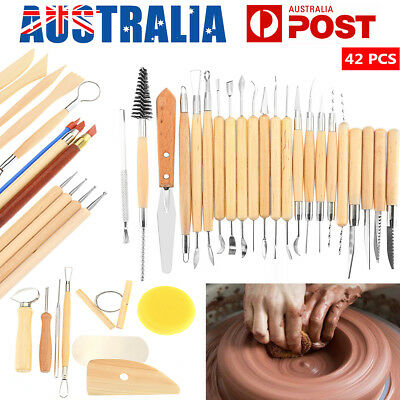 42/30Pcs Clay Modeling Sculpting Tools Pottery Carving Set DIY Polymer Sculpture