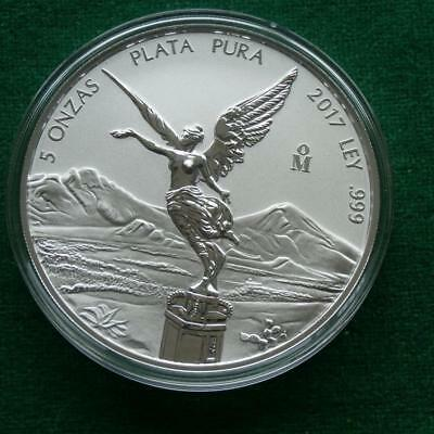 2017 MEXICO SILVER 5 Oz LIBERTAD WINGED VICTORY REVERSE PROOF