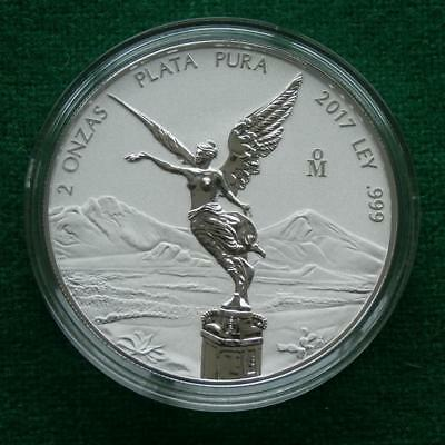 2017 MEXICO SILVER 2 Oz LIBERTAD WINGED VICTORY REVERSE PROOF