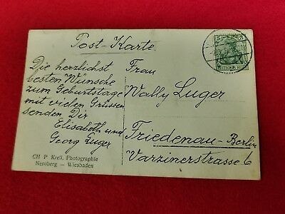 Georg Luger Postcard photo and signature WWI-WWII German Pistol Empire