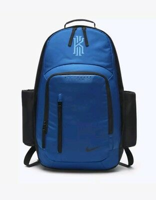 bc7622abface Nike KYRIE Irving Backpack Black Blue Jay Lacquer BA5133-013 School Laptop