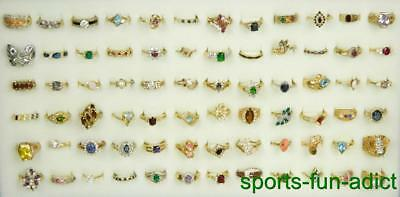 Beautiful Lot of 72 pc Multi Design Multi Stone NOS New Women's BOLD Rings