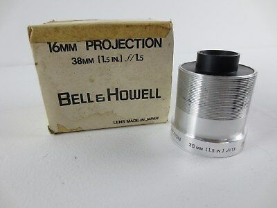 Bell & Howell 16MM Projection 38mm 1.5 in. f/1.5 Projection Lens JAPAN