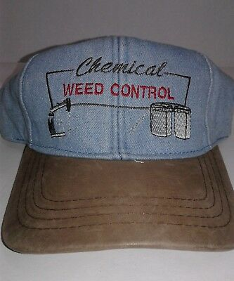 Chemical Weed Control BaseBall Cap Hat Adjustable