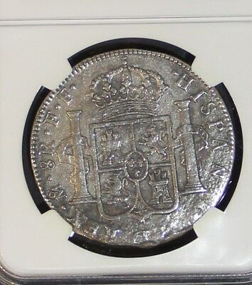 1777-1783 8 Reales Silver Coin 1784 El Cazador Shipwreck NGC Genuine Piece of 8