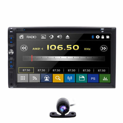 """Sony Lens Double 2Din 7""""Car Stereo Radio DVD Player iPod Bluetooth TV MP3 Mic US"""