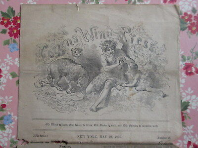COZZENS WINE PRESS 1859 ANTIQUE Newsletter JULES MUMM Champagne + WJF Dailey Ads