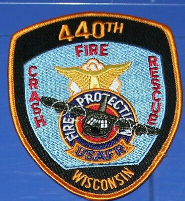 US AIR FORCE Reserve Command 440th Fire Protection Crash Rescue Wisconsin WI FD