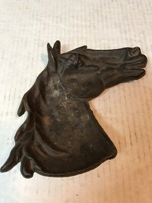 Vintage cast iron Ashtray shaped Horse Head
