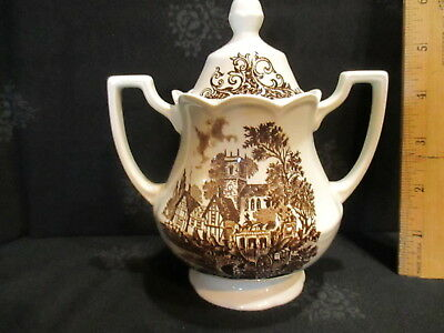 Covered Sugar ROYAL STAFFORDSHIRE STRATFORD STAGE IRONSTONE J&G MEAKIN  ENGLAND