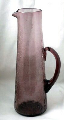 Large Amethyst Cracke Glass Decanter - MUST SEE!!!!!
